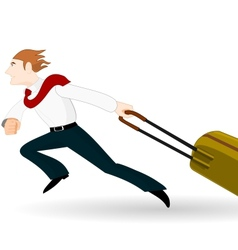 Businessman in a hurry vector