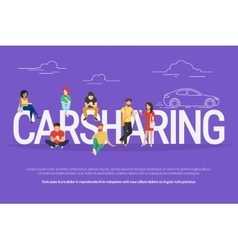 Carsharing concept vector