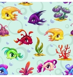 Cute underwater seamless pattern vector image vector image