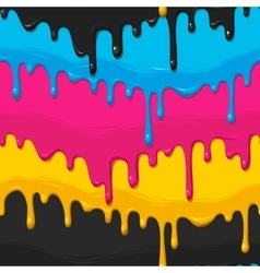 Dripping paint seamless vector