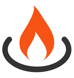 Fire place flat icon vector