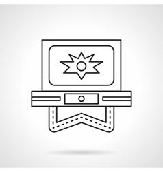 Flash video flat line icon vector image