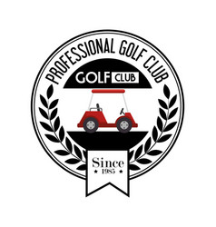 Golf sport cart emblem icon vector