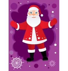 greetings from santa vector image