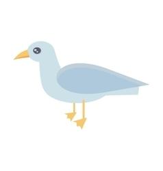 Gull bird in flat design vector
