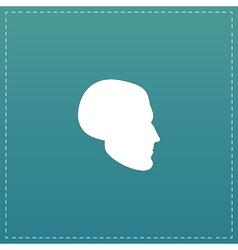 Head flat icon vector