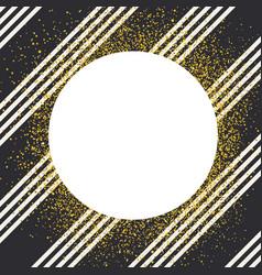 invitation card design template diagonall white vector image