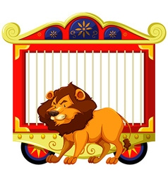 Lion and carnival cage vector