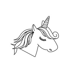 magical unicorn icon vector image