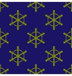 Marine Seamless Ship Steering Wheel Background vector image vector image