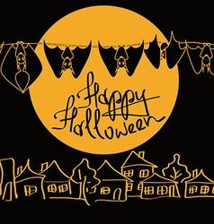 Minimalist Halloween with bats vector image