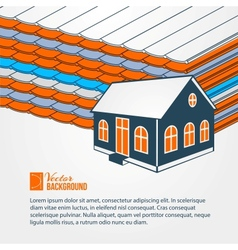Privat hoiuse over tile roof vector