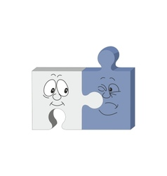 puzzle smile emotion vector image vector image