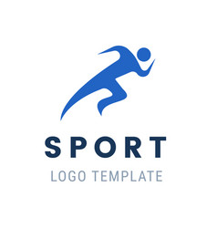 runner logo fast abstract running man vector image vector image