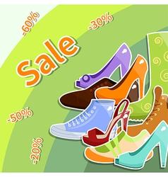 Shoes sale vector