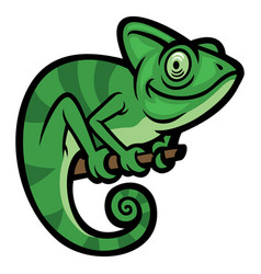 smiling happy chameleon vector image
