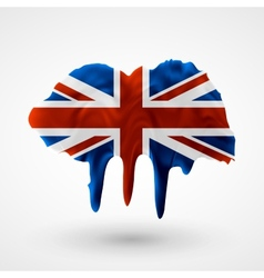 Uk flag painted colors vector