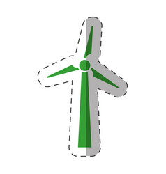 Wind mill electric environment design vector
