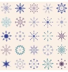 Snowflake set vintage vector image
