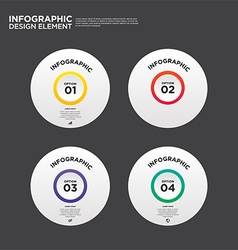 Infographic business report template layout vector