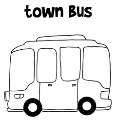 Hand draw of town bus vector