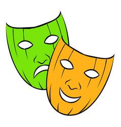 Comedy tragic and icon cartoon vector