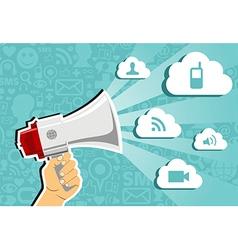 Cloud computing marketing concept vector