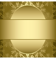 Gold card with gold pattern vector