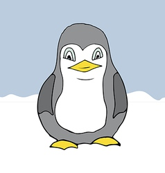 cartoon style penguin vector image