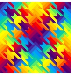 Houndstooths pattern in rainbow colors vector image