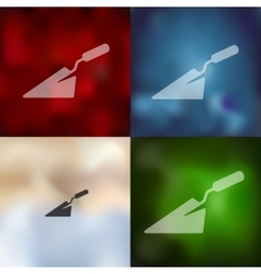 Trowel icon on blurred background vector