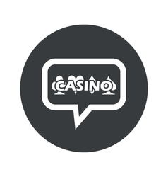 Round casino dialog icon vector