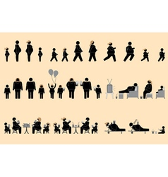 Obese people and good appetite pictogram vector