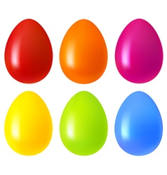 Set of easter eggs vector