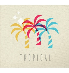 Colorful palm tree summer concept background vector