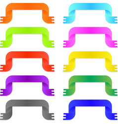 Colorful bright ribbons vector