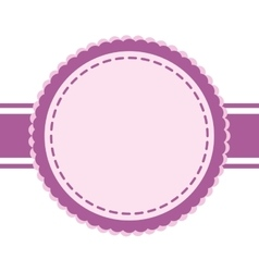 Purple seal stamp icon label design vector