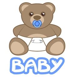 Baby teddy vector image