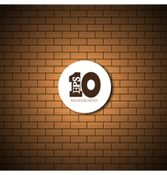 brick wall background with place for your text vector image vector image