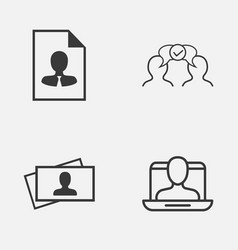 Business icons set collection of calling card vector