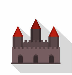 Castle tower icon flat style vector