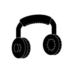 Contour headphones to listen and play music vector