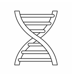 Dna icon in outline style vector