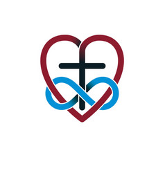 Everlasting love of god creative symbol design vector