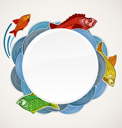 Fish template vector image vector image