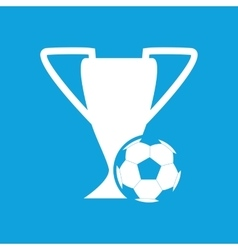 Football cup icon simple vector image
