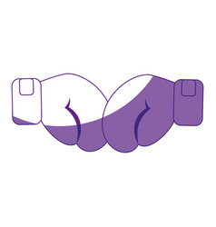 gloves boxing sport vector image