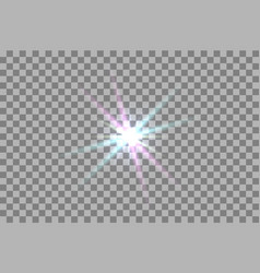 Glowing light effect vector