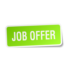Job offer square sticker on white vector