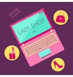 Lady shop vector image vector image